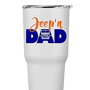 Jeep 4x4 Jeep'n Dad Father's Day Decal Sticker Laptops Cars Yeti RTIC Ozark Coolers Tumblers or Cups