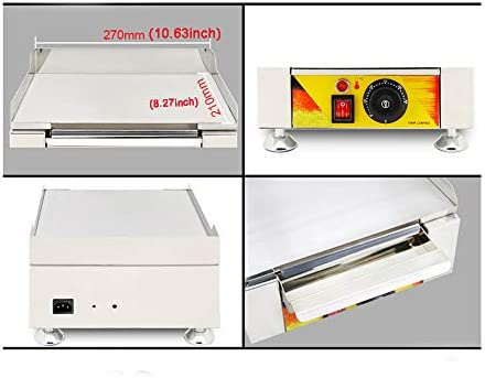 INTBUYING Electric Mini Griddle Stove Countertop Flat Cooking Grill Stainless Steel Commercial Machine