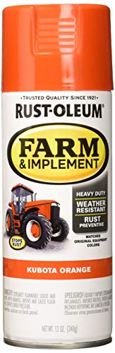 (Rust-Oleum RUSTOLEUM 280142 Kubota Orange 12 oz. Farm & Implement Spray Paint)