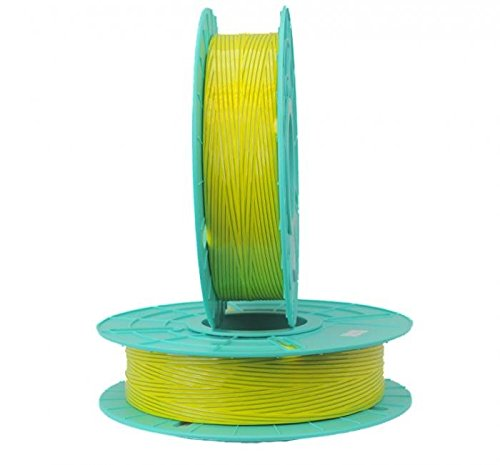 2.500 ft. Standard Paper / Plastic Yellow Twist Tie Ribbons (10 Spools) - 03-2500-Yellow by Miller Supply Inc