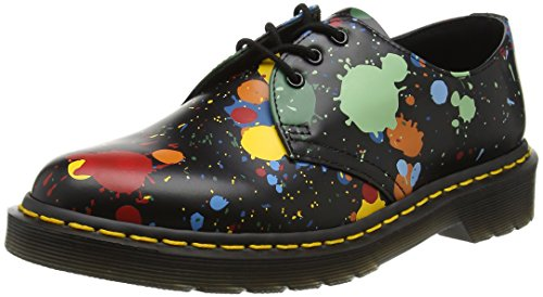 Dr. Martens 1461, Derby Unisex Adulto Negro (Black Splatter Smooth)