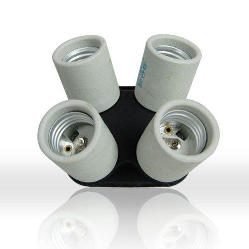 LimoStudio AGG813 4 Socket Adapter 4 in 1 Adapter Holder E27 Bulb Lamp Light Socket Splitter UL Approved for Photo Studio Lighting