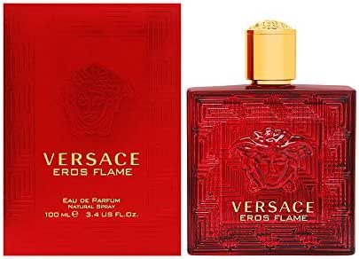 Versace Versace eros flame for men eau de parfume spray, 3.4 Ounce, Red