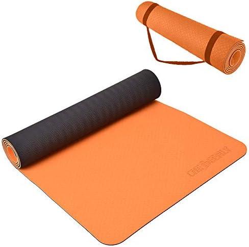 Yoga Mat Exercise Fitness Mat - Yoga Mats for Women 6mm Non Slip Pro Workout Mat for Pilates