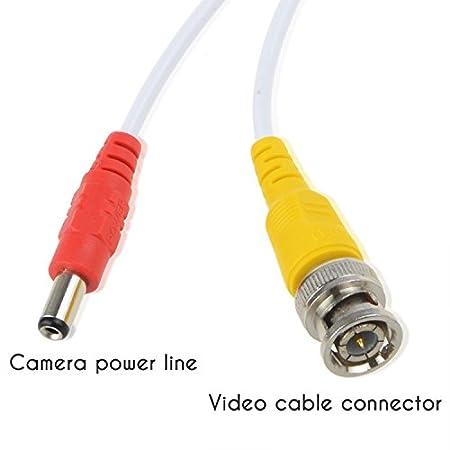 TODO en uno de imágenes prediseñadas jergo gato siamés de nivel profesional Combo Cable Coaxial BNC Cable de vídeo y alimentación para 1080p/720p, TVI, CVI, ...