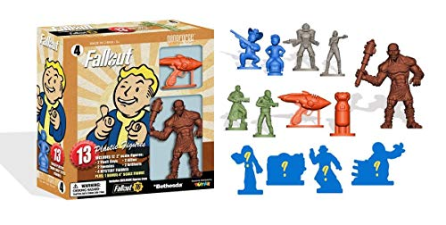 Toynk Fallout Nanoforce Series 1 Army Builder Figure Collection - Boxed Volume 4 | Vault Boy | Super Mutant | Special Edition Collectible Gaming Figures |