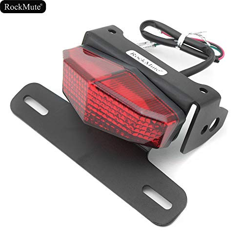 LED License Plate Bracket Holder Tail Light Compatible With Suzuki DR-Z 400S DR-Z 400SM 2010 2011 2012 2013 2014 2015 2016 2017 2018 Tail Tidy Fender Eliminator Rear Mudguard Waterproof Aluminum Red