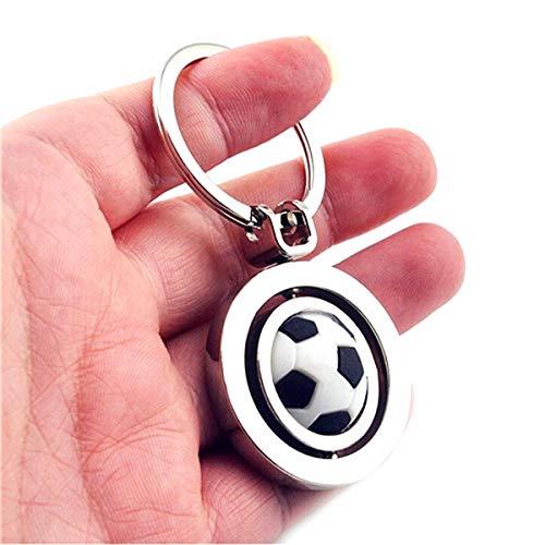 - URDEAR Fashion Metal Soccer Keychain Cute Rotating Sports Football Keyring Perfect Gifts for Men Women