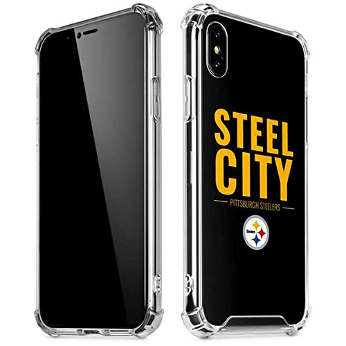 Skinit Pittsburgh Steelers Team Motto iPhone X/XS Clear Case - Officially Licensed NFL Phone Case Clear - Transparent iPhone X/XS Cover ()