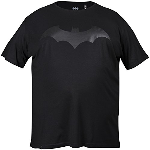 GOZOO Batman Classic T-Shirt Übergröße Herren Leather Bat Schwarz