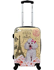Chariot 20 Lightweight Spinner Carry-on Upright Suitcase-Paris Poodle