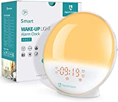 heimvision Sunrise Alarm Clock, Smart Wake up Light Work with Alexa, Sleep Aid Digital Alarm Clock with Sunset...