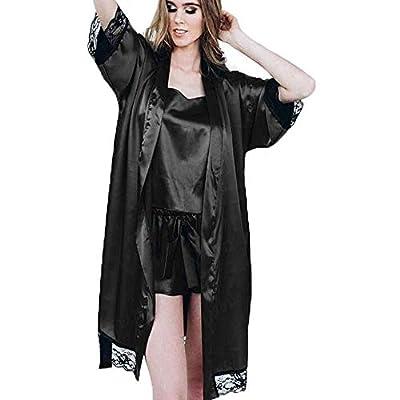 DayDayUp Ropa Interior erótica Traje de camisón de Encaje con pestañas Sexy Albornoz casero,Black,XXXL: Deportes y aire libre