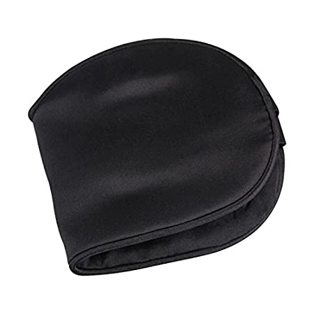Black Natural Silk Fabric and Natural Cotton Filled Sleeping Eye Mask with Adjustable Strap for Men,Women and Kids SLHP Sleep Mask,Eye Mask