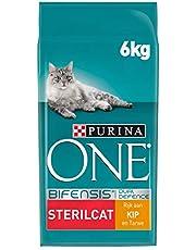Purina ONE 12378886 Kattenbrokken - voor Gesteriliseerde & Gecastreerde Katten, Met Kip en Tarwe, 6 kg