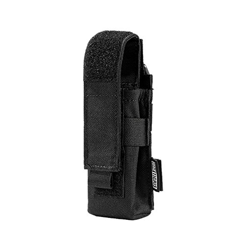 OneTigris Flashlight Pouch Holster Tactical Molle 1000D Cordura Nylon Flashlight Pouch Holder - Compatible Molle Vest