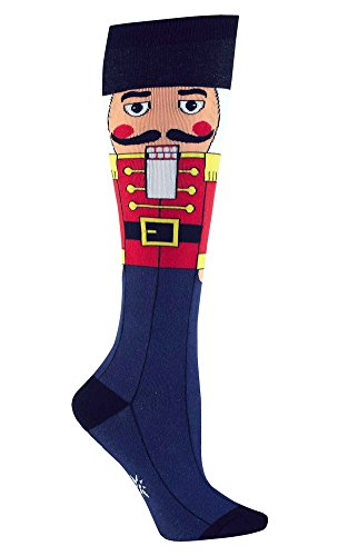 Sock It To Me NUTCRACKER Womens Knee Sock,One size fits most adults (Scout Nutcracker)