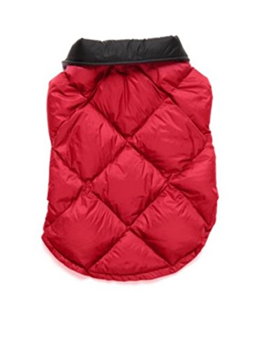 32 Degrees Heat Ultra Light Down Dog Coat-Red Small ()