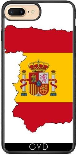 Coque Silicone pour Iphone 7 Plus / 8 Plus - Espagne Drapeau Barcelona by WonderfulDreamPicture