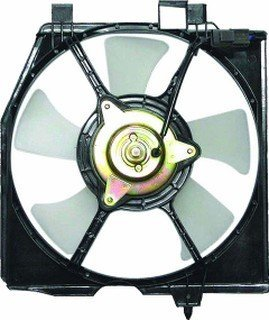 QP M3116-c Mazda Protege Replacement AC A/C Condenser Cooling Fan/Shroud Assembly