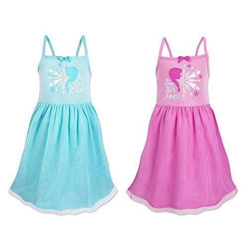 Disney Frozen Best Friends Nightshirts for Kids - 2-Pack Size 4 Multi