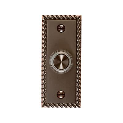Thomas & Betts DH1667BL LED Door Chime Button, Oil-Rubbed Bronze