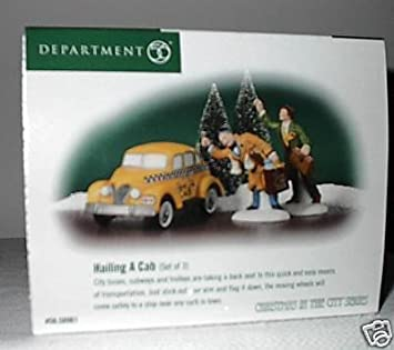 Department 56 Hailing a Cab From the Christmas in the City Series