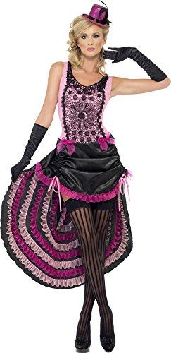 Burlesque Beauty Costumes (Smiffy's Burlesque Beauty Costume, Pink/Black, Small)