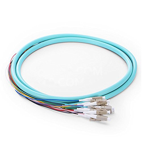 1.5M 12 Fibers LC 50/125 Multimode OM3 Bunch Fiber Optic Pigtail - 0.9mm PVC (Fiber Pigtail)