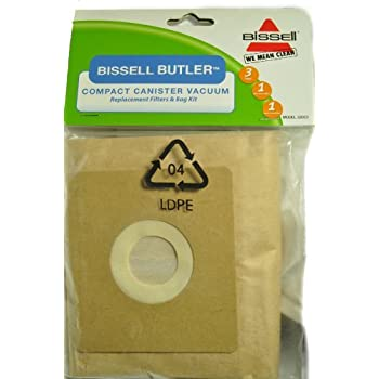 Amazon.com: Bissell Butler revolución Canister Vacuum bolsas ...