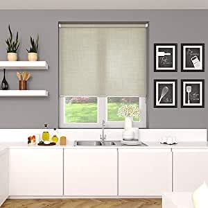 Blinds2Curtains Polyester Sand 150 cm x 150 cm Screen 5 Screen Roller Blind