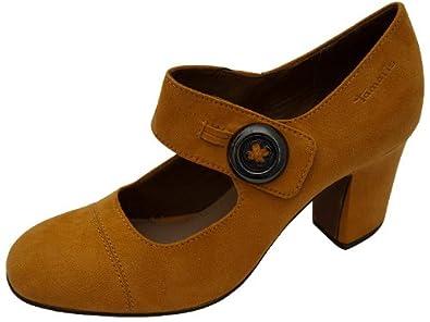 Tamaris Pumps Curry Spangenpumps gelb , Schuhgröße 39