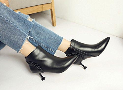 Moda Moda Moda Corti Pelle in Vera c Stivali Coreana Nero Stivali Stivali Stivali Stivali Confortevole Corti Femminile gTOaqB