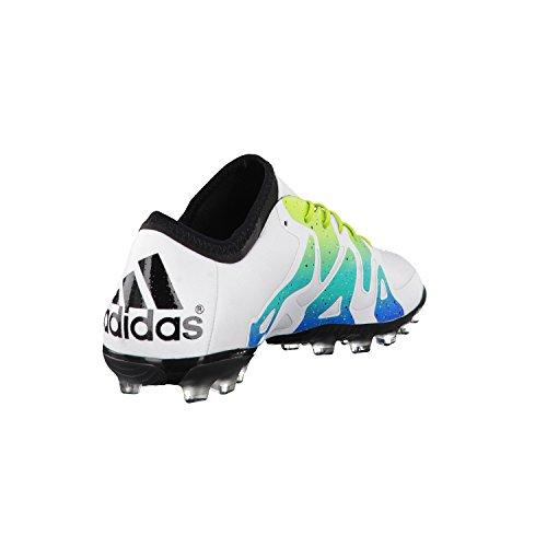 Scarpe Da Calcio Adidas Men X 15.1 Ag, Colorate Bianco / Verde / Nero (ftwbla / Seliso / Negbas)