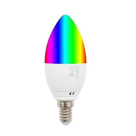 Su-luoyu WiFi Bombillas LED Vela E14(Casquillo Fino) con Forma De Vela