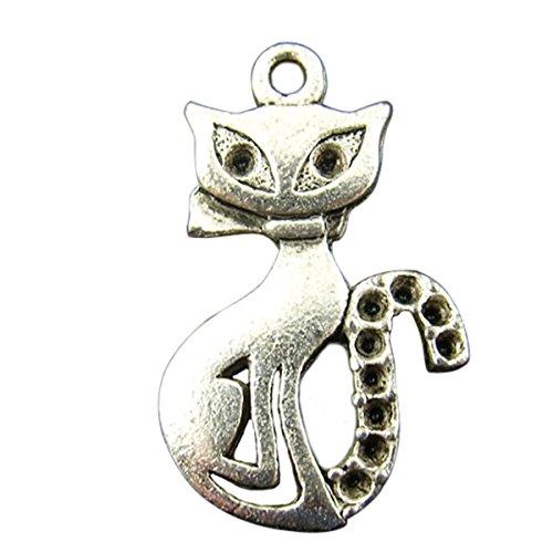 Metal Cat Charm - 3