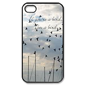 EBestAmShop(TM) Carcasa de Plástico Reforzado If You're A Bird, I'm A Bird Funda Carcasa Protectora Para Apple iPhone 4/4S 4 4S 4GS 4G