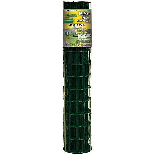 50' Welded Fence (YARDGARD 308352B 48 inch by 50 foot 16 gauge 2 inch by 3 inch mech PVC welded wire)