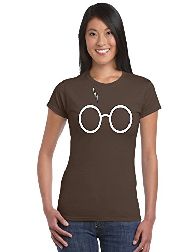 Outlook Designs Harry Potter Glasses T-Shirt Women Dark Chocolate Small