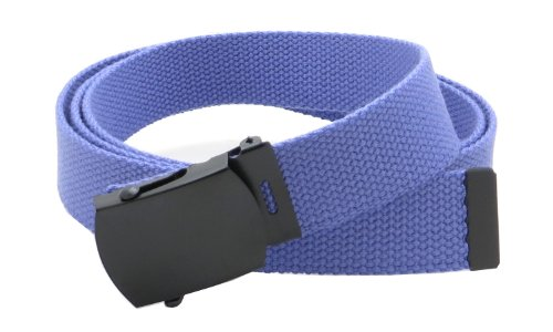 (Canvas Web Belt Military Style with Black Buckle and Tip 56