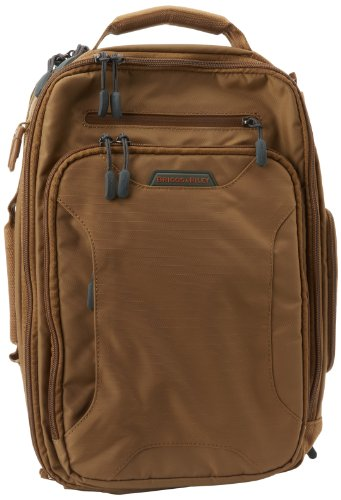 Briggs and Riley Luggage Excursion Convertible Brief, Amber, One Size, Bags Central