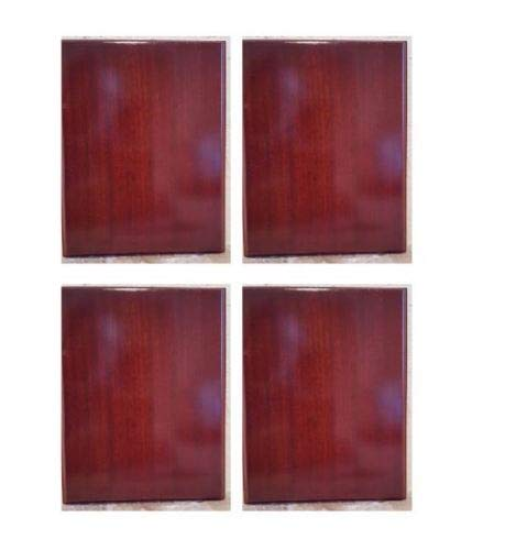 Pack of 4 Rosewood Piano Finish Blank Wood Plaque 5