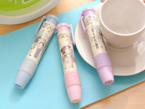Genonaute Creative Lovely Pen Shape Hand Press Eraser Rubber by Genonaute (Image #4)
