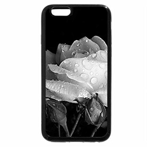 iPhone 6S Plus Case, iPhone 6 Plus Case (Black & White) - Rose's beauty