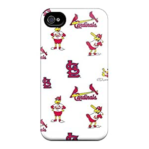 YbT512FjIO St. Louis Cardinals Fashion Tpu 4/4s Case Cover For Iphone