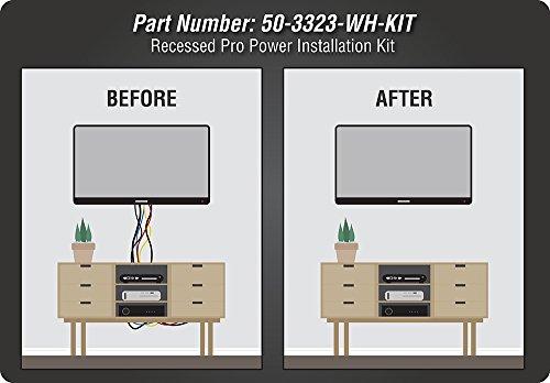 Datacomm 50-3323-WH-KIT Flat Panel TV Cable Organizer Kit with Power Solution - White by Datacomm Electronics (Image #9)