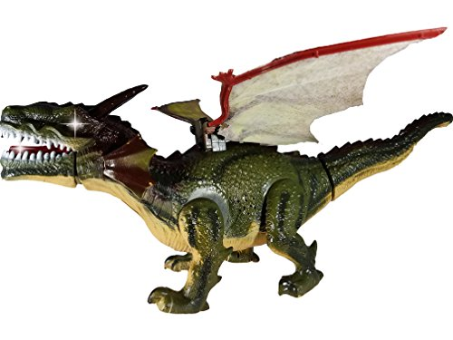 The Latest Premium Dragon Toy / Dinosaur Toy for Kids – Battery Operated Flying Dragon | Walking and Roaring | Eyes and Tongue Light Up | Wings and Tail Swing - Best Kids Toy Gift (Age 3+)