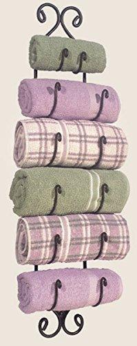 arge Adirondack Towel Rack ~Black Wrought Iron ()