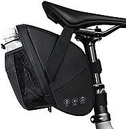 GeeMart Bike Saddle Bags with Water Bottle Pouch, Bike Seat Bag Waterproof & Portable Bike Bag Under Seat