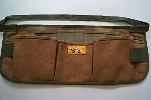 - Bull Tools BT 1002 Heavy Weight 15 Oz. Dyed Duck Cotton Canvas Utility Smart Tool Waist Apron 13 Pocket Cinnamon Brown